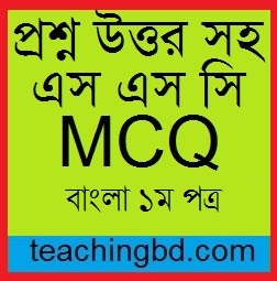 SSC MCQ Question Ans. Ami Kono Agontuk Noi 2019
