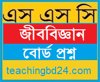 SSC Biology Board Question Jessore Board 2016 10
